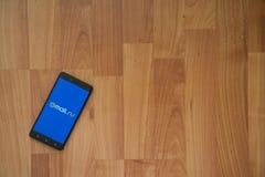 correio ru na tela do smartphone Fotos de Stock
