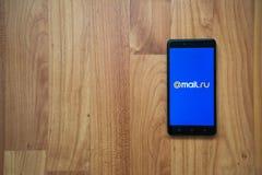 correio ru no smartphone Fotos de Stock Royalty Free