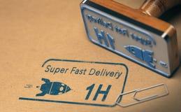 Correio Service, entrega rápida super Fotografia de Stock