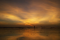 Correndo al tramonto Fotografia Stock Libera da Diritti