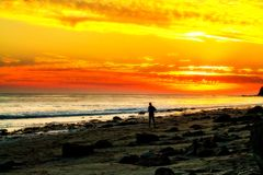 Correndo alla spiaggia Fotografia Stock Libera da Diritti