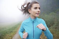 Correndo in autunno Immagine Stock