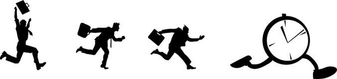 Correndo dopo l'orologio Fotografia Stock