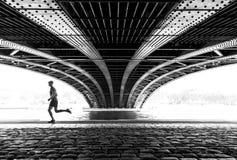 Correndo a Lione Fotografie Stock
