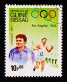 Correndo, serie dei giochi olimpici, circa 1983 Fotografia Stock Libera da Diritti