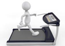 Correndo su una pedana mobile Immagini Stock