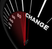 Correndo verso il cambiamento - tachimetro Fotografie Stock