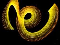 Corrente al neon costolata di energia dell'oro Fotografia Stock