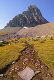 Corrente alpina sotto un picco Fotografie Stock Libere da Diritti