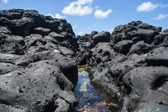 Corrente in basalto blu Immagine Stock