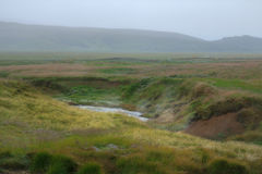 Corrente calda ad area geotermica in Islanda Immagine Stock Libera da Diritti