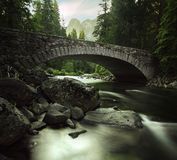 Corrente che entra nel parco nazionale di Yosemite immagine stock libera da diritti