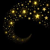 Corrente circolare delle stelle scintillanti royalty illustrazione gratis