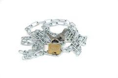 Corrente com fechamento e chave Foto de Stock Royalty Free