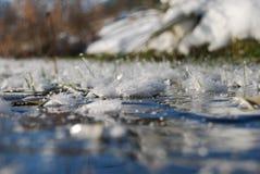 Corrente congelata Fotografia Stock