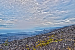 Corrente da estrada das crateras no console grande Havaí Imagem de Stock