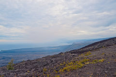 Corrente da estrada das crateras no console grande Havaí Fotografia de Stock