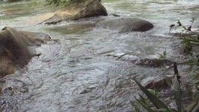 Corrente dalla cascata di Takhro dopo pioggia archivi video