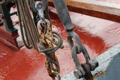 Corrente de aço da corrosão imagem de stock royalty free
