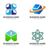 Corrente de bloco e projeto cripto do logotipo da moeda ilustração royalty free