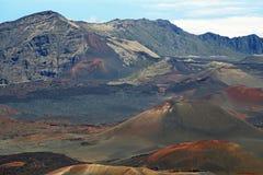 Corrente de cones vulcânicos da cinza Fotos de Stock Royalty Free