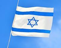 Corrente de Israel Flag no Dia da Independência Fotos de Stock Royalty Free