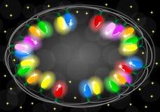 Corrente de luzes coloridas Fotos de Stock Royalty Free
