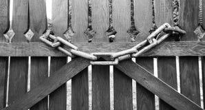 Corrente de madeira Imagens de Stock Royalty Free