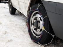 Corrente de pneu Fotografia de Stock