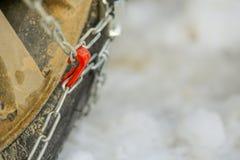 A corrente de pneu na neve Imagem de Stock