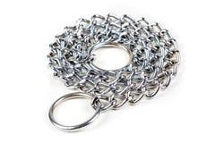 Corrente de prata do bloqueador do metal imagens de stock