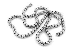 Corrente de prata unisex - de aço inoxidável Fotos de Stock Royalty Free