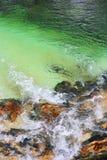 Corrente del fiume della montagna fotografia stock libera da diritti