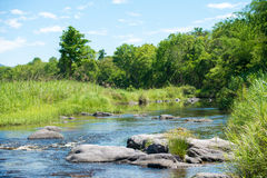 Corrente del fiume di acqua Fotografia Stock Libera da Diritti