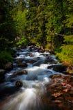 Corrente delle montagne in Svezia del Nord Fotografia Stock Libera da Diritti