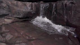Corrente di acqua nel selvaggio archivi video