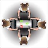 Corrente di informazioni fra la gente tramite telefono Fotografia Stock