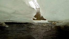 Corrente di inverno video d archivio