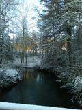 Corrente di Snowy immagini stock