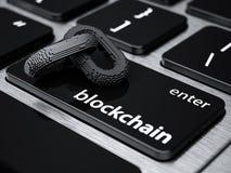 Corrente digital de Blockchain ilustração royalty free