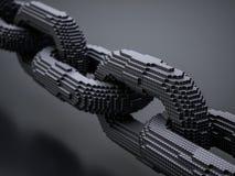 Corrente digital de Blockchain ilustração stock