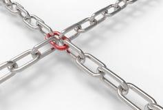 Corrente do ferro isolada no fundo branco 3D que ilustra Imagens de Stock