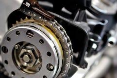 Corrente do sincronismo de um motor de automóveis foto de stock