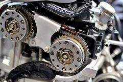 Corrente do sincronismo de um motor de automóveis imagem de stock royalty free