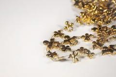 Corrente dourada do anjo Imagens de Stock