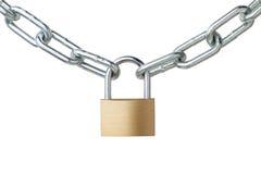 Corrente e cadeado do metal Imagens de Stock