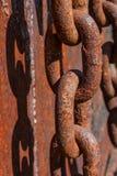Corrente e sombra oxidadas Fotografia de Stock