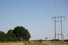 Corrente elettrica di conduzione Fotografie Stock