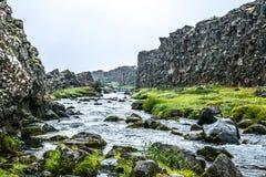 Corrente islandese veloce immagini stock libere da diritti