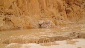 Corrente nel deserto stock footage